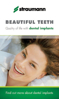 Straumann Advertisement. Click to find out more about dental implants